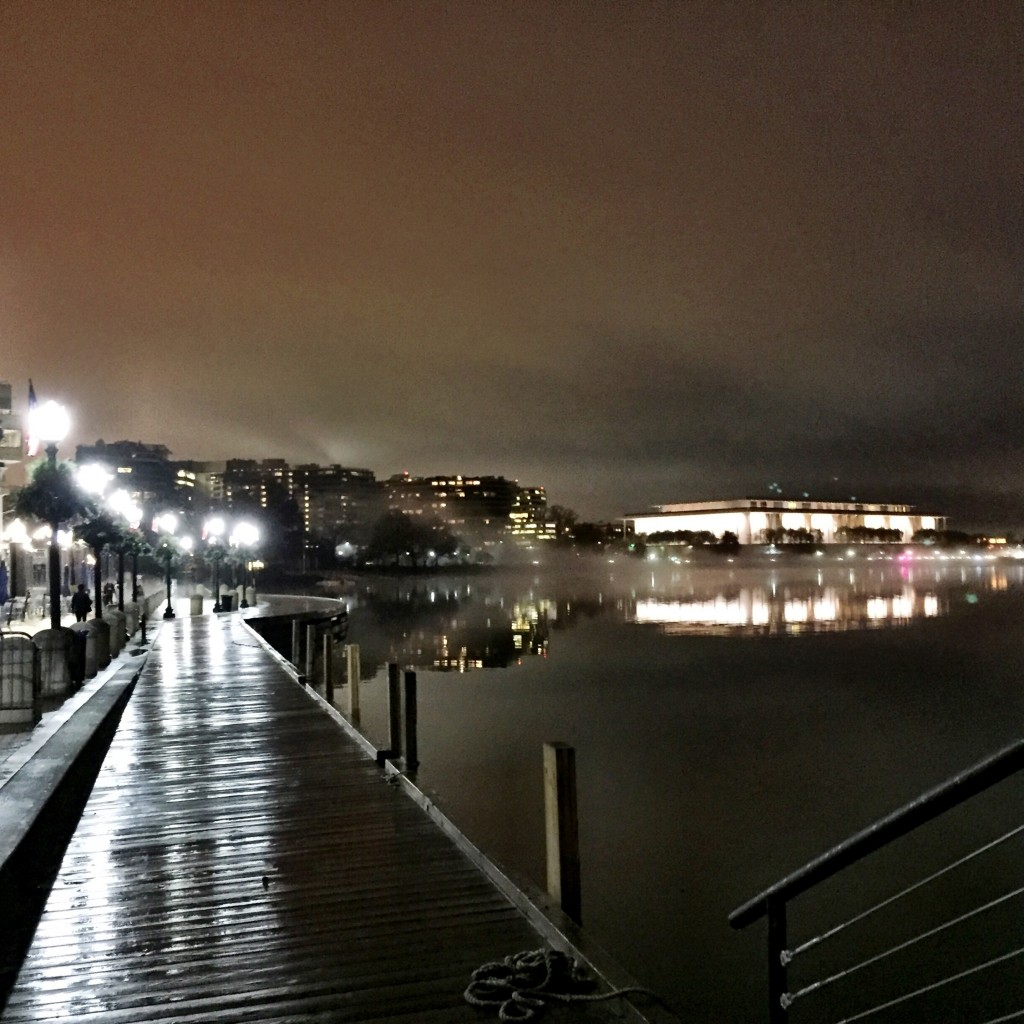 It was a beautiful and foggy night