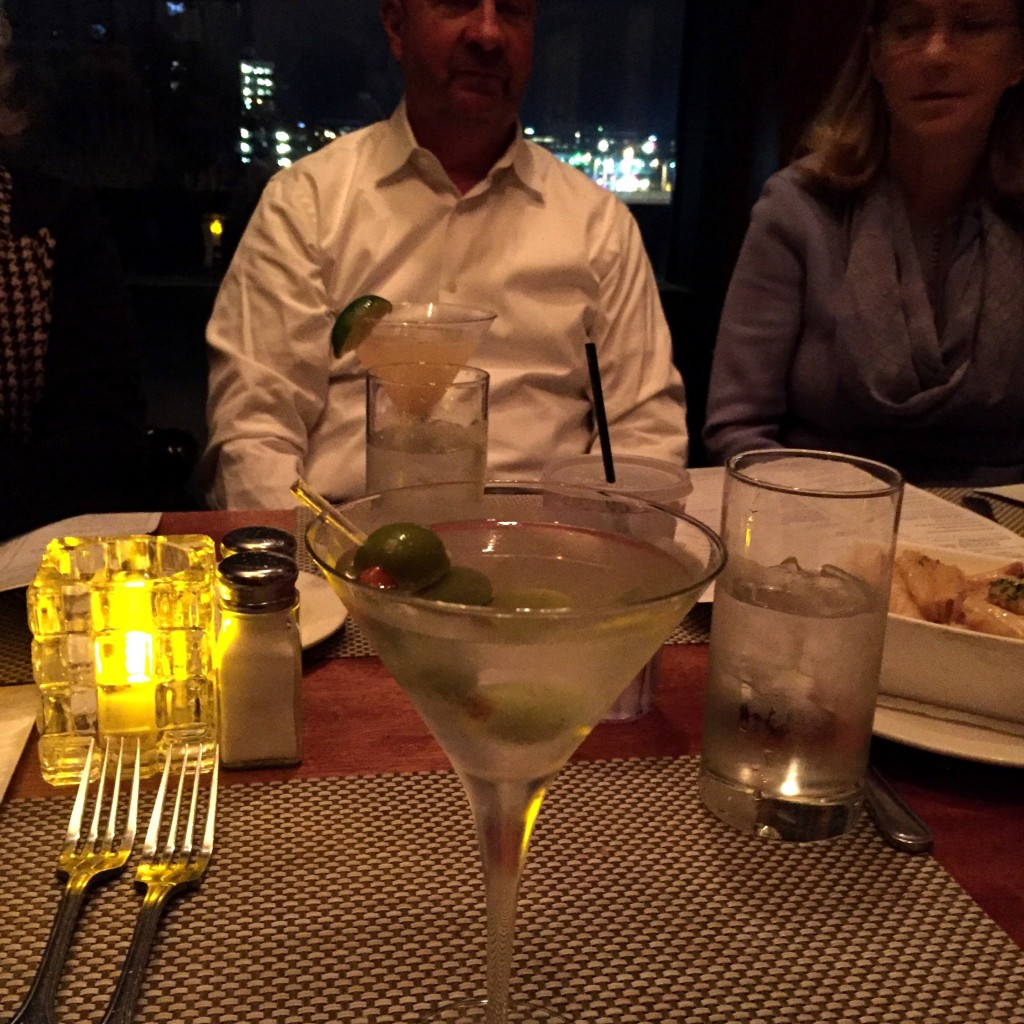 FJ's Bday at McCormick & Schmick's.  I had a martini with Aviation gin.  It was delicious.
