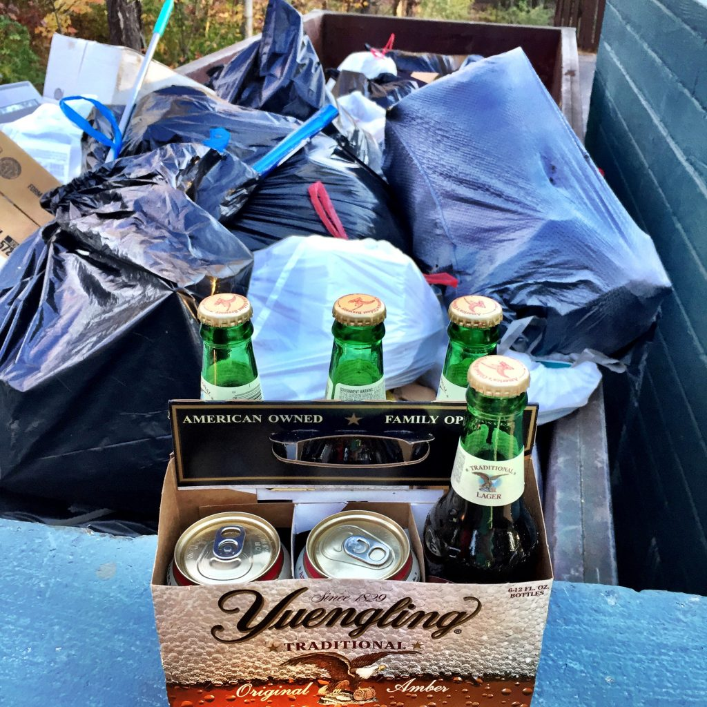 Sad.  Throwing out the last of the Trump beer.