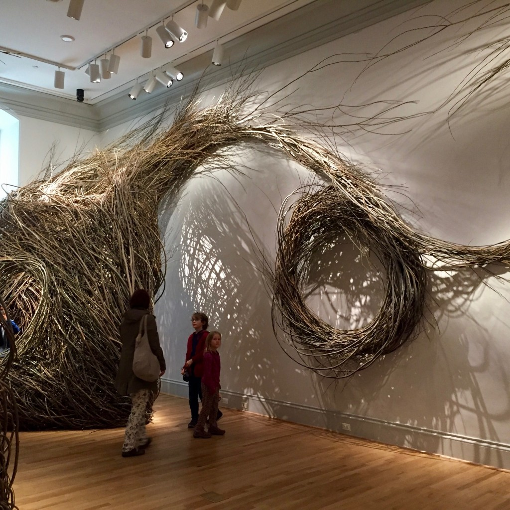 This installation by Patrick Dougherty was my favorite