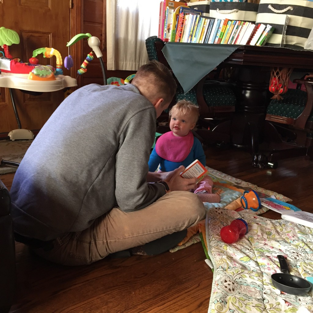 Playing with her uncle