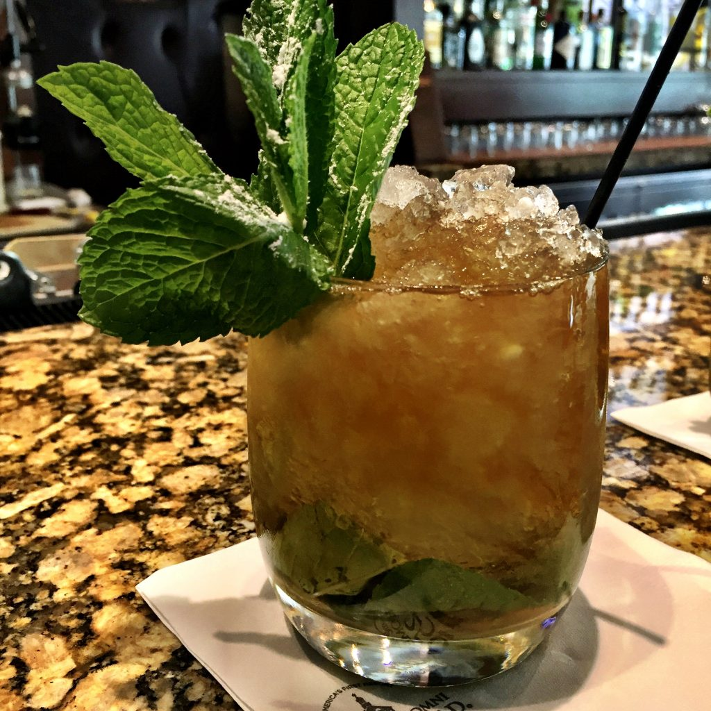 First mint julep of the stay