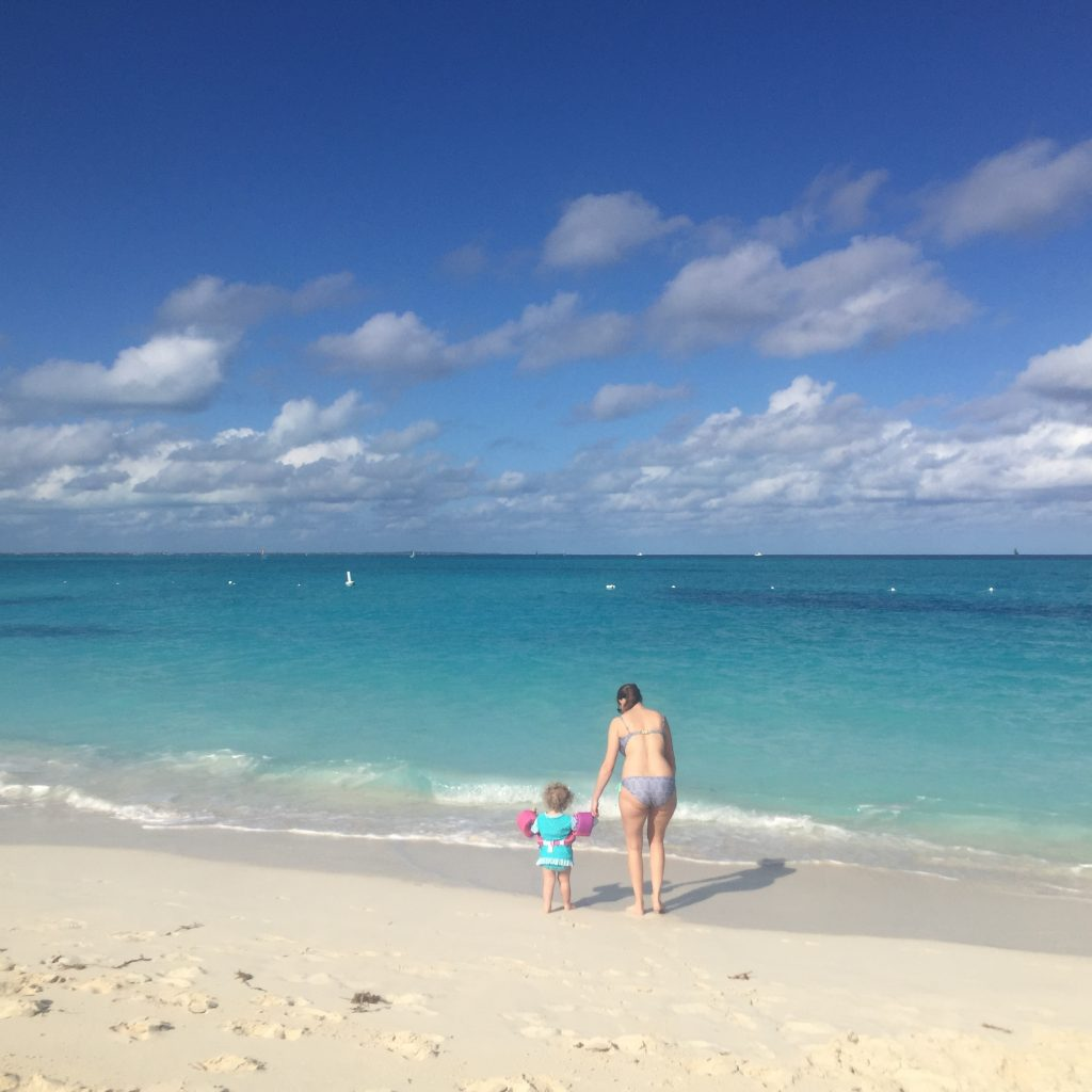 The beach at Turks and Caicos is just beautiful